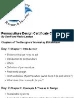 Permatculture Design Certificate Course Outline