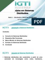 Aula Capítulo 1 – Introdução a Sistemas Distribuídos