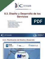 Diseño y desarrollo de los servicios
