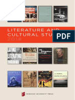 Literature & Cultural Studies 2018 Brochure