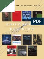 Philosophy & Religion 2017 Brochure