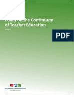 Policy Continuum of Teacher education