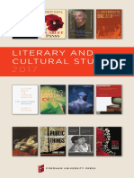 Literature & Cultural Studies 2017 brochure.