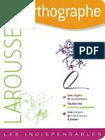 Orthographe Larousse