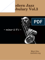 Matt Otto - Modern Jazz Vocabulary Vol.3 Minor II-V-i