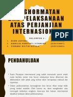 Penghormatan Dan Pelaksanaan Atas Perjanjian Internasional