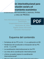 Coordinación interinstitucional para la inclusión social y el empoderamiento económico