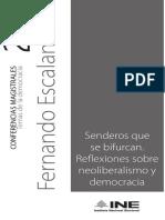Escalante Fernando, Senderos Que Se Bifurcan_neoliberalismo y Democracia 8.11.2017