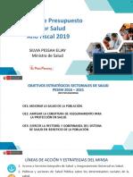 Presupuesto 2019 - Sector de Salud