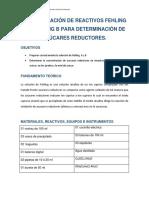 Inf. 2-Preparación de Reactivos Fehling a y b Para Determinación de Azúcares Reductores