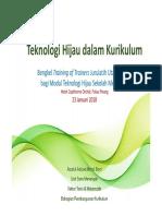 Teknologi Hijau Dalam Kurikulum