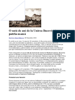 O sută de ani de la Unirea Bucovinei cu patria.docx