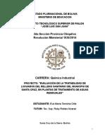 PROYECTO DE EVALUACIÓN DE LA TRATABILIDAD DE LIXIVIADOS DEL RELLENO SANITARIO DEL MUNICIPIO DE SANTA CRUZ