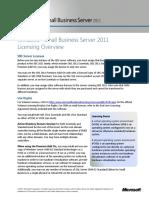 SBS 2011 Licensing Datasheet