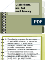 Chapter 6 Patients Subordinate Workplace and Professional Advocacy