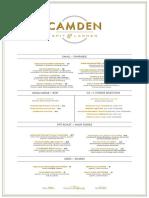 Camden Spit & Larder Opening Menu