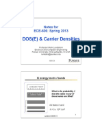 Notes on DOS and Carrier Densities