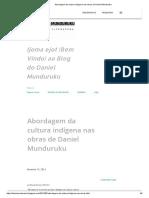 Abordagem Da Cultura Indígena Nas Obras de Daniel Munduruku