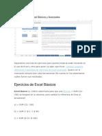 10 Ejercicios de Excel Básicos y Avanzados