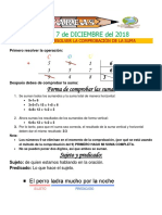 Tareas 1° Del 4 al 7 DICIEMBRE 2018