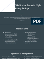 prevention of medication errors in high-acuity settings