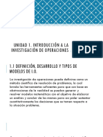 Unidad 1 INVESTIGACION DE OPERACIONES