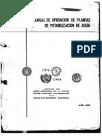 Manual de Operacion de Plantas de Potabilizacion de Aguas