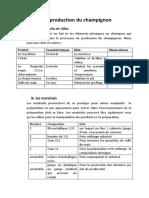 Les Étapes de Production Du Champignon