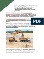 118 Proyectos de Infraestructura en Tumbes