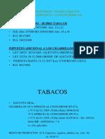 Impuestos Internos Tabacos y Cigarrillos
