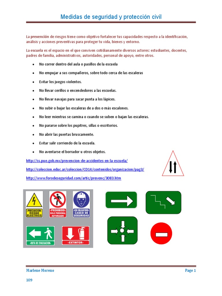 Medidas De Seguridad Y Proteccion Civil