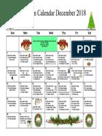 Mystic Recreation Calendar December 2018