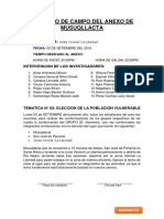 REGISTRO de CAMPO Junta Vecinal La Libertad