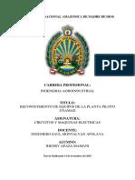 Reconocimiento de Maquinas y Equipos PLANTA PILOTO UNAMAD
