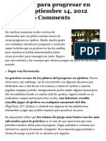 5 Consejos Para Progresar en Ajedrez - Diario de Un Entrenador
