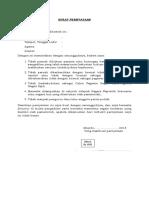 Format Surat Pernyataan Masohi