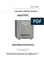 LiquiTOCi Manual Operation