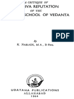 A Critique of Madhva Refutation of the Samkara School of Vedanta