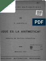 Ensayo de Aritmetica. Fransico Zubieta Russ