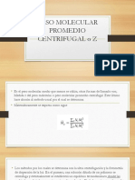 Peso Molecular Promedio Centrifugal o z
