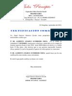Certificación Comercial