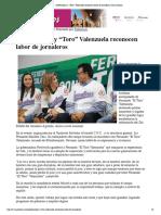 """30-11-18 - CANAL SONORA - Gobernadora y """"Toro"""" Valenzuela Reconocen Labor de Jornaleros _ Canal Sonora"""