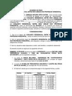 Modelo Acuerdo de Pago