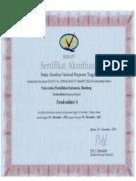 Sertifikat Akreditasi UPI 2