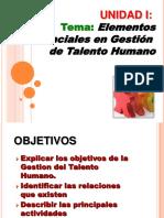 Presentacion Tema Elementos Esenciales de Gestion Ps 663-Unidad I