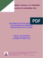 Distribución de Máximas Intensidades Sísmicas Observadas en El Perú