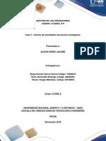 Diego Garcia Informe de Actividades Decisiones Estartégicas