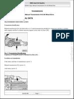 5 Spd. Manual Transmission 01A All Wheel Drive