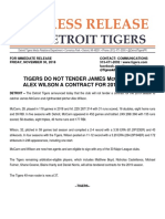 Tigers Non Tender James McCann and Alex Wilson