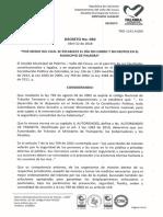 2018 04 12 Decreto 050 Por medio del cual se establece el día sin carro y sin motos en el municipio de Palmira-2